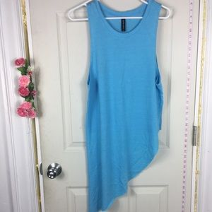 Easy Wear Cotton Blue Crop Top XL NWOT